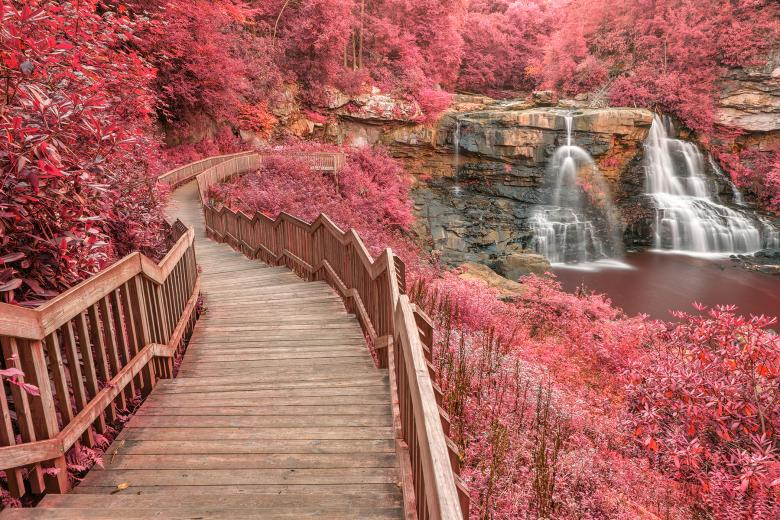 Free Stock Photo of Winding Pink Fantasy Falls - HDR Created by Nicolas Raymond