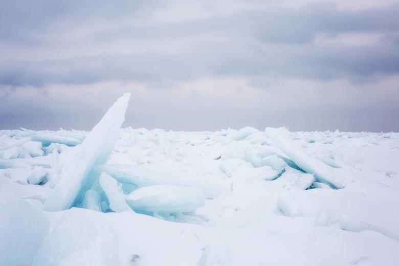 Lake Huron - Free Abstract Winter Stock Photos