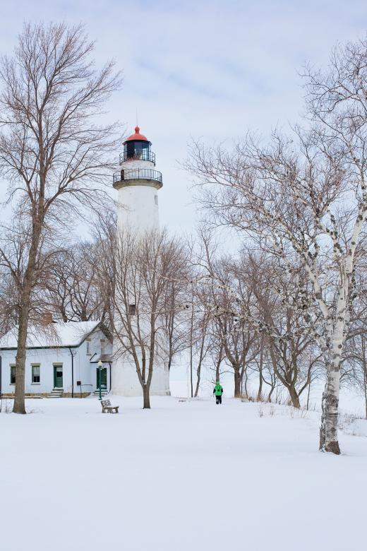 Free Stock Photo of Lighthouse in Winter Created by Pixabay