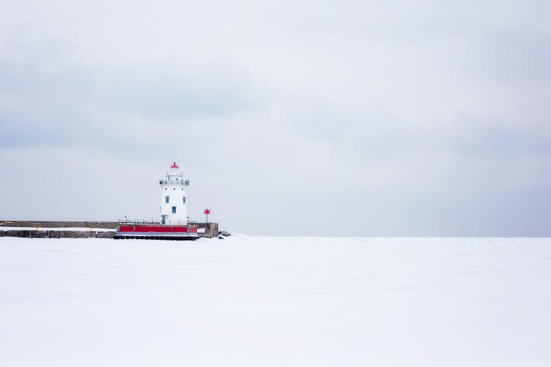 Lighthouse in Winter - Free Winter Stock Photos