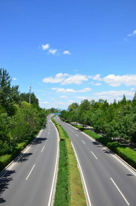 Free Stock Photo of Double lane Highway - No Traffic Created by kayt