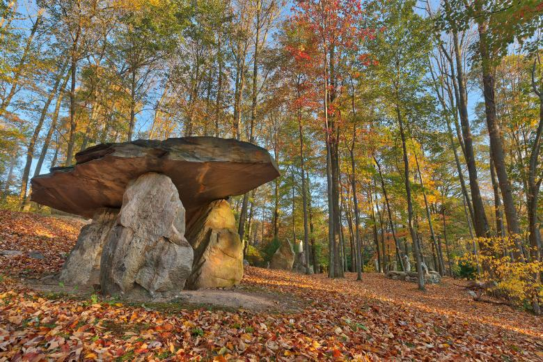Free Stock Photo of Autumn Dolmen Forest - HDR Created by Nicolas Raymond