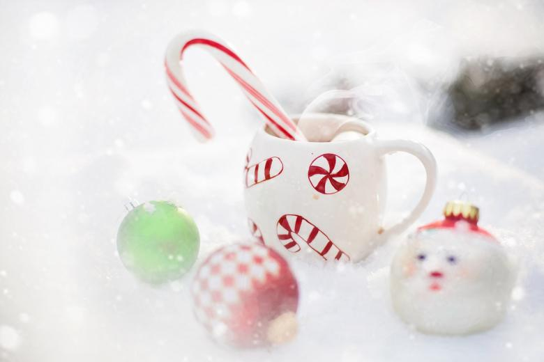 Bauble and Hot Chocolate - Free Christmas Stock Photos
