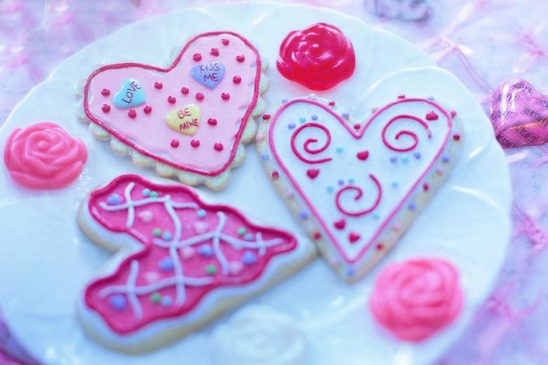 Heart Shaped Cookies - Free Valentines Day Images