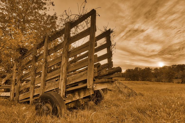 Free Stock Photo of Gettysburg Sunset Decay - Sepia Nostalgia HDR Created by Nicolas Raymond