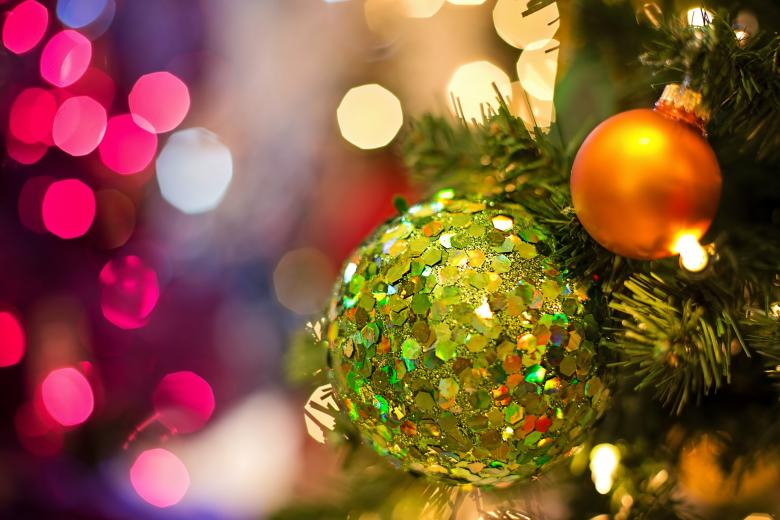 Glittering Christmas Bauble - Free Christmas Stock Photos