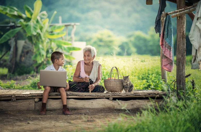 Kid using Laptop - Free Technology Stock Photos