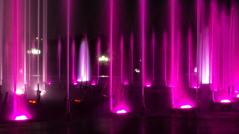 Free Stock Photo of Pink Water Fountain Created by Pixabay