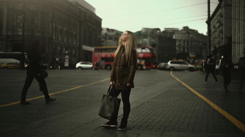 Blonde in the City - Free Urban Stock Photos