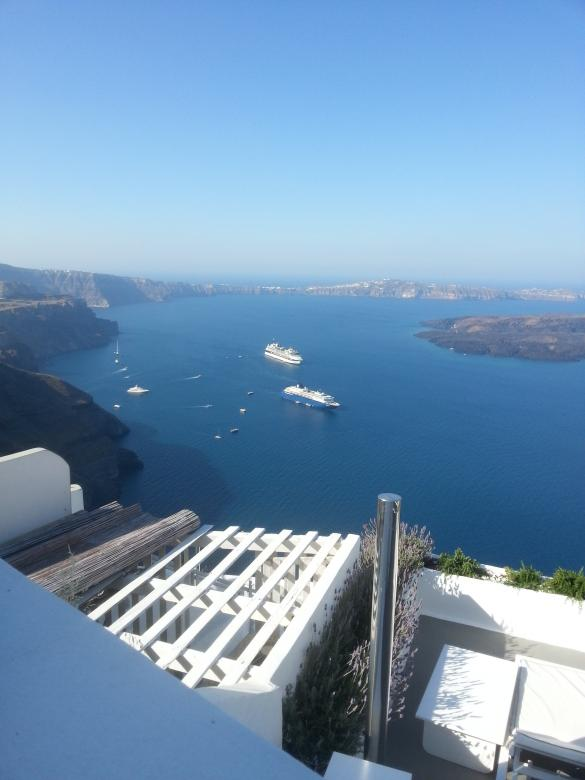 Free Stock Photo of Balcony with view - SANTORINI Created by Yiannis