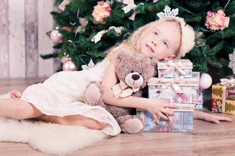 Little Girl on Christmas - Free Christmas Stock Photos