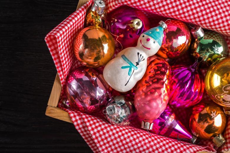 Colorful Christmas Ornaments - Free Christmas Stock Photos