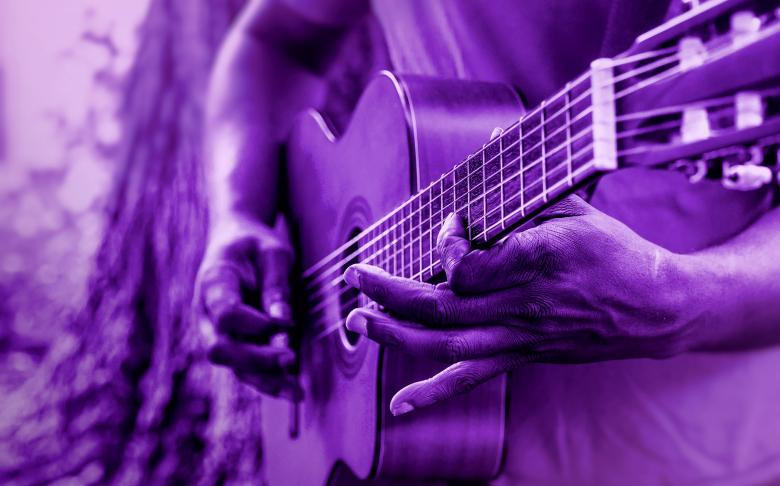 Free Stock Photo of Man Playing Acoustic Guitar Created by Jack Moreh