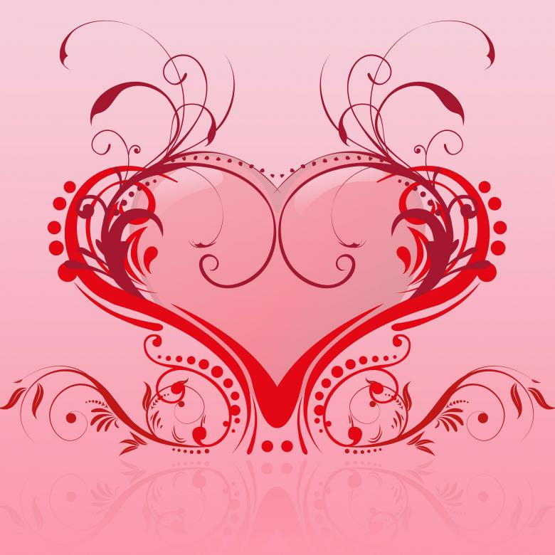 Valentine Heart Illustration - Free Valentines Day Images