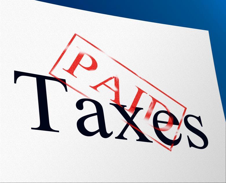 Taxes Paid Indicates Duty Balance And Duties - Free Tax Stock Photos