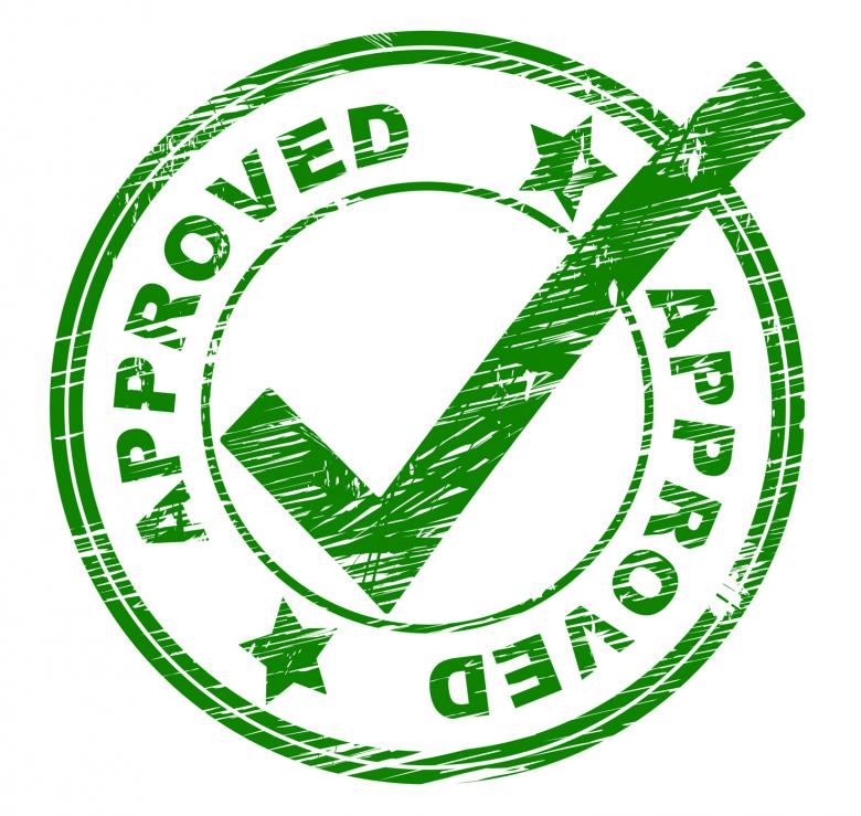 Free Stock Photo of Approved Stamp Indicates All Right And OK Created by Stuart Miles