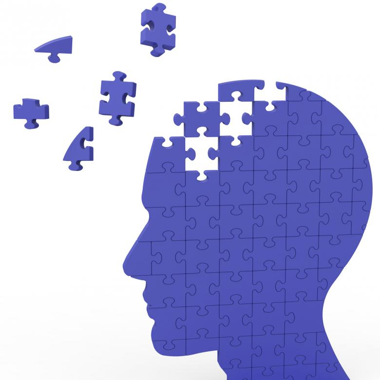 Free Stock Photo of Head Puzzle Shows Slipping Ideas Created by Stuart Miles