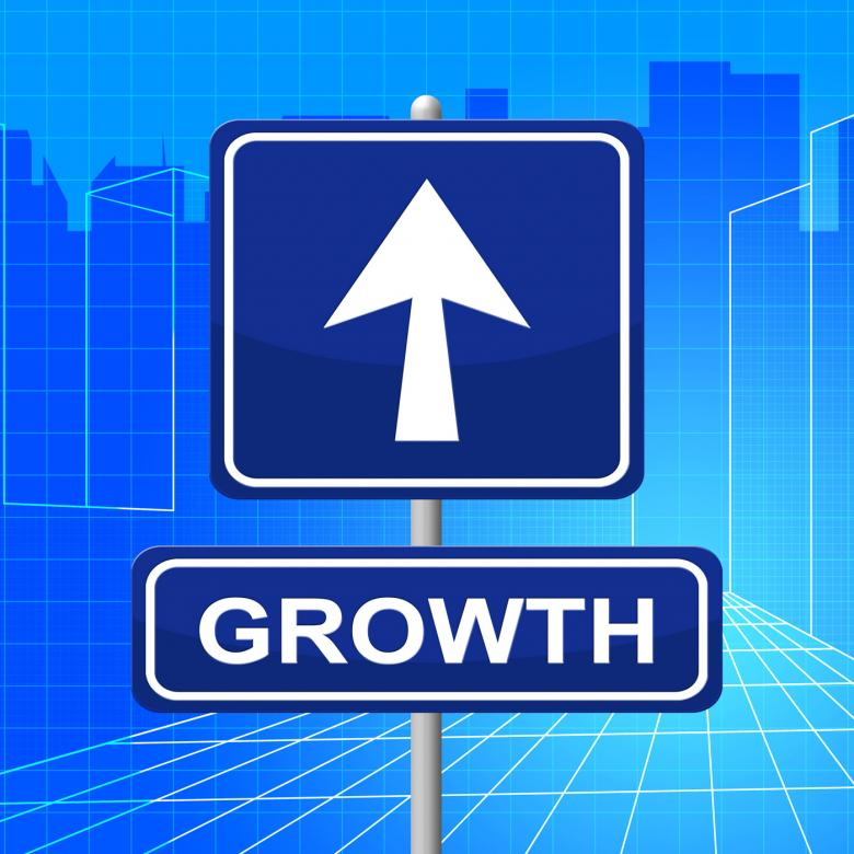 Free Stock Photo of Growth Sign Represents Develop Expansion And Direction Created by Stuart Miles