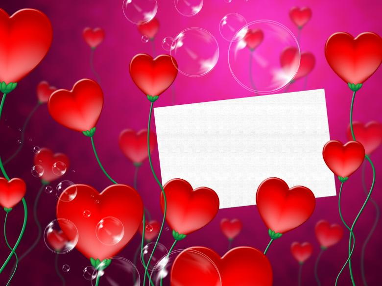 Heart Message Means Valentine Day And Correspond - Free Love Stock Photos