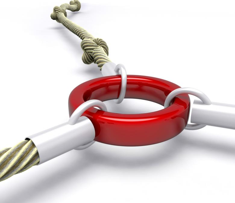 Free Stock Photo of Red Link Shows Attached Connection Created by Stuart Miles