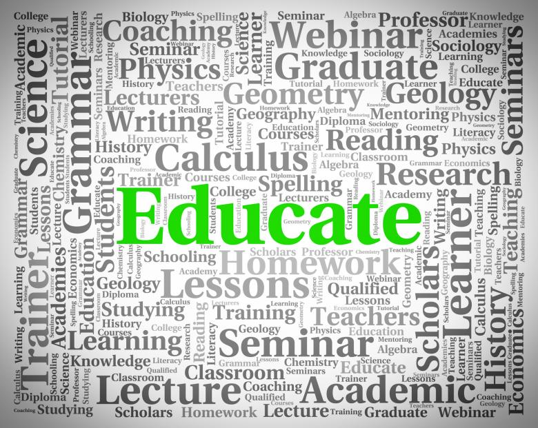 Free Stock Photo of Educate Word Shows Develop Studying And University Created by Stuart Miles