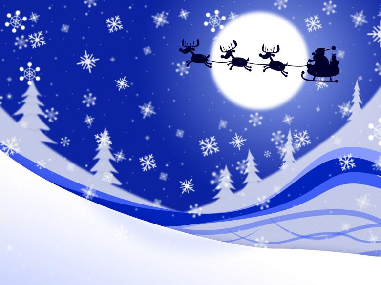 Free Stock Photo of Moon Xmas Indicates Father Christmas And Celebrate Created by Stuart Miles
