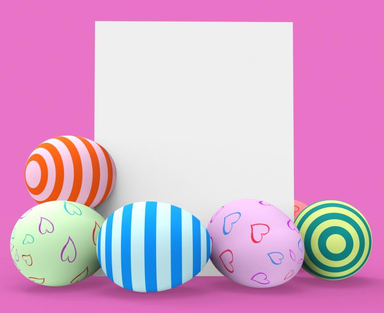 Easter Eggs Represents Blank Space And Copy-Space - Free Easter Stock Photos & Vectors