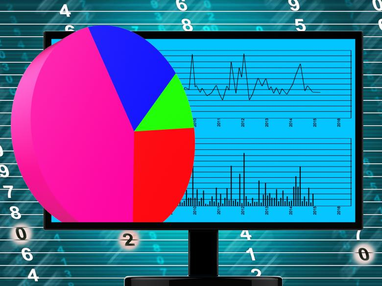 Pie Chart Online Represents Financial Report And Web Free Stock