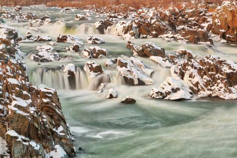 Free Stock Photo of Great Falls Winter Jade Cascades - HDR Created by Nicolas Raymond