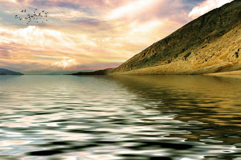 Free Stock Photo of Lake Rendering - 3D Landscape Created by bykst