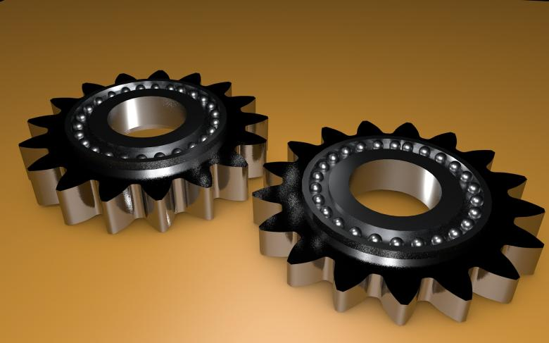 Free Stock Photo of Metallic Gears Created by bykst