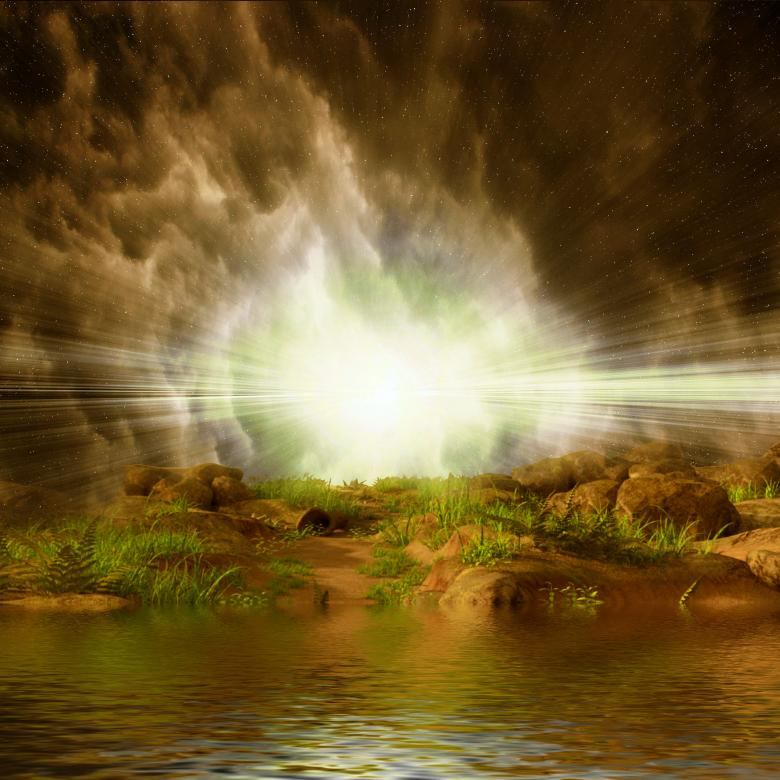 Free Stock Photo of 3D Landscape - Bright Light by the Waterfront Created by bykst