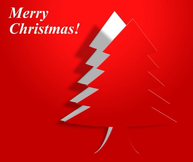 Xmas Tree Indicates Merry Christmas And Greeting - Free Christmas Stock Photos