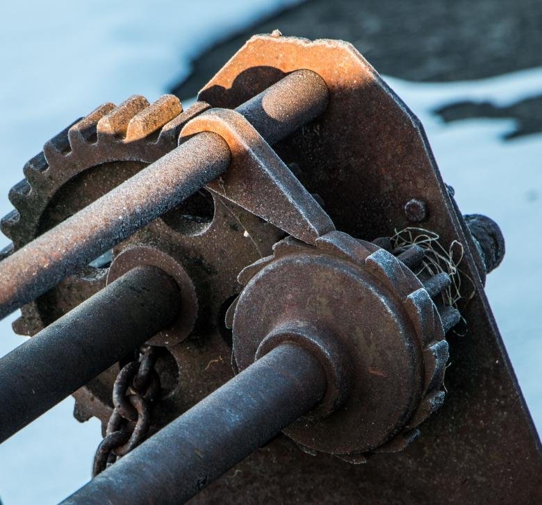 Free Stock Photo of Rusty Winch in Winter Created by Janis Urtans
