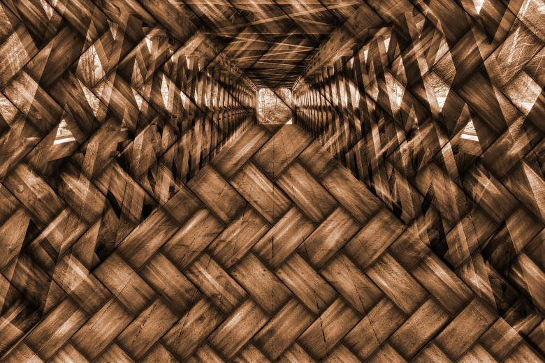 Free Stock Photo of Wood Woven Covered Bridge Created by Nicolas Raymond