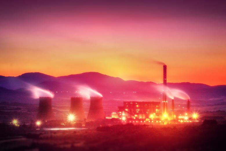 Free Stock Photo of Power Plant at Dusk Created by Jack Moreh