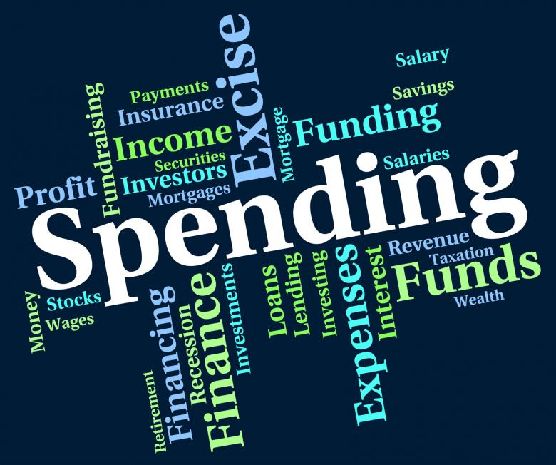 Free Stock Photo of Spending Word Indicates Words Buying And Text Created by Stuart Miles