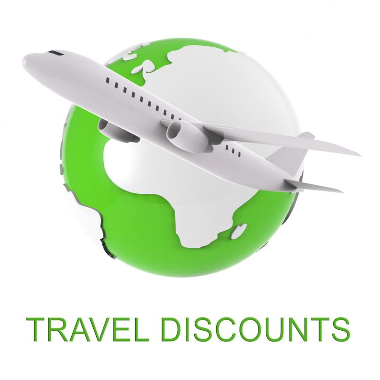 Travel Discounts Indicates Journey Reduction 3d Rendering - Free Travel Illustrations