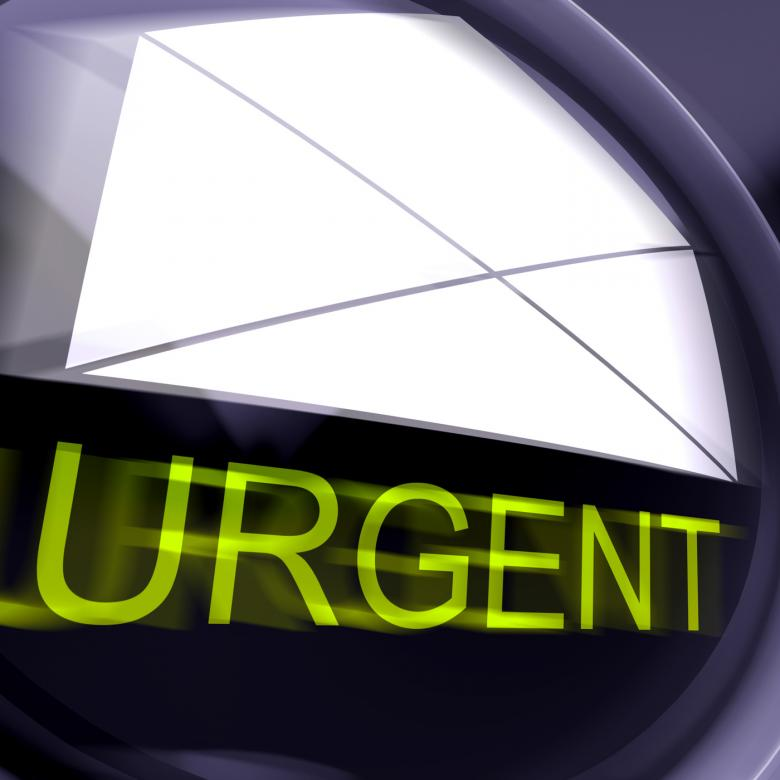 Free Stock Photo of Urgent Postage Means High Priority Or Very Important Mail Created by Stuart Miles