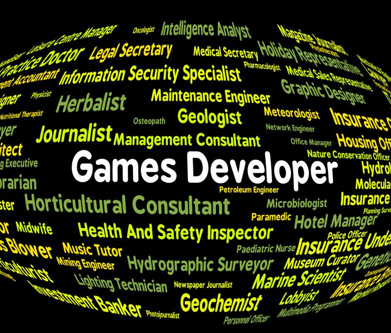 Free Stock Photo of Games Developer Means Play Time And Career Created by Stuart Miles
