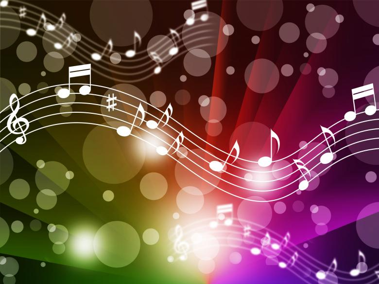 Free Stock Photo of Music Background Meaning Singing Instruments And Notes Created by Stuart Miles