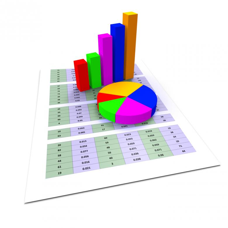 Pie Chart Shows Business Graph And Charting Free Stock Photo By