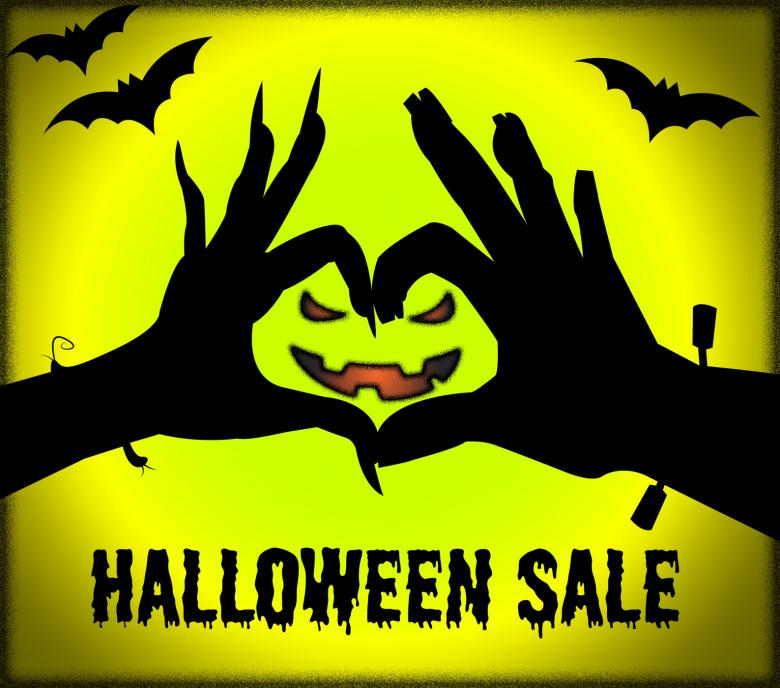 Halloween Sale Represents Trick Or Treat And Celebration - Free ...