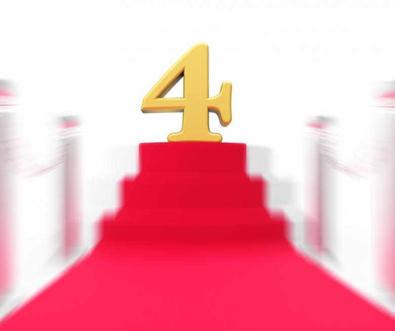 Free stock image of Golden Four On Red Carpet Displays Elegant Film Event Or Celebration created by Stuart Miles