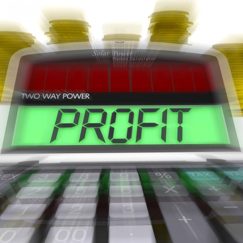 Free Stock Photo of Profit Calculated Means Surplus Income And Revenue Created by Stuart Miles
