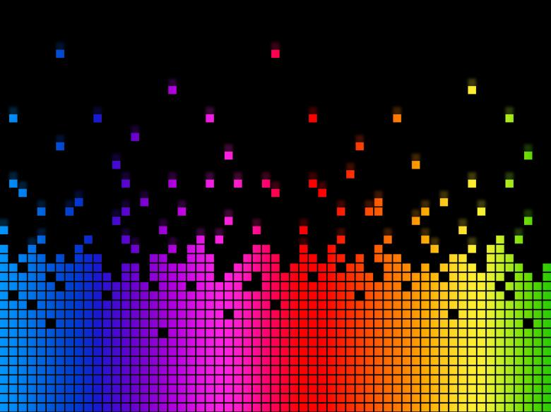 Free Stock Photo of Rainbow Soundwaves Background Means Musical Playing Or DJ Created by Stuart Miles