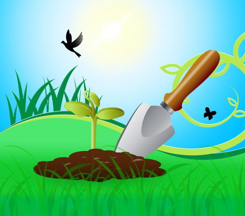 Free stock image of Gardening Trowel Represents Growing Flowers 3d Illustration created by Stuart Miles