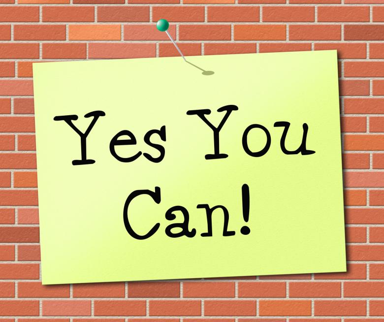 Free Stock Photo of Yes You Can Means All Right And Agree Created by Stuart Miles