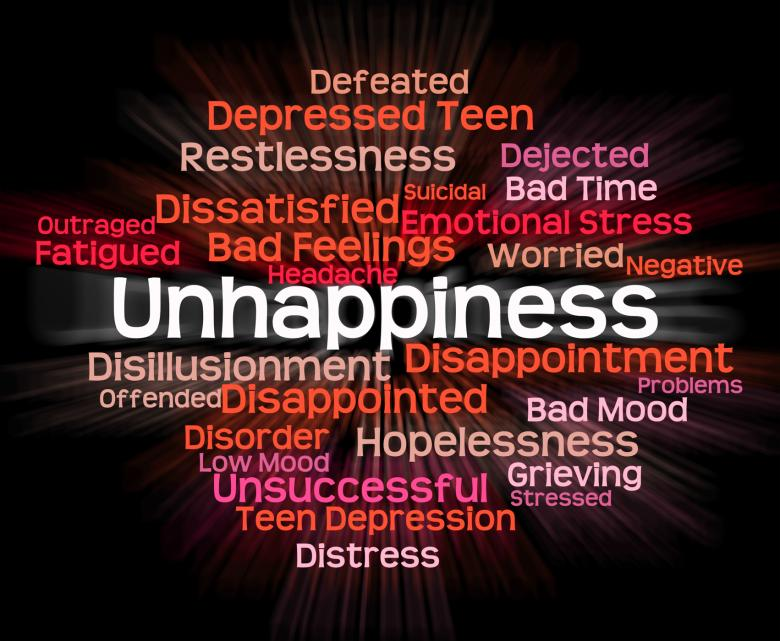 Free Stock Photo of Unhappiness Word Represents Grief Stricken And Dejected Created by Stuart Miles