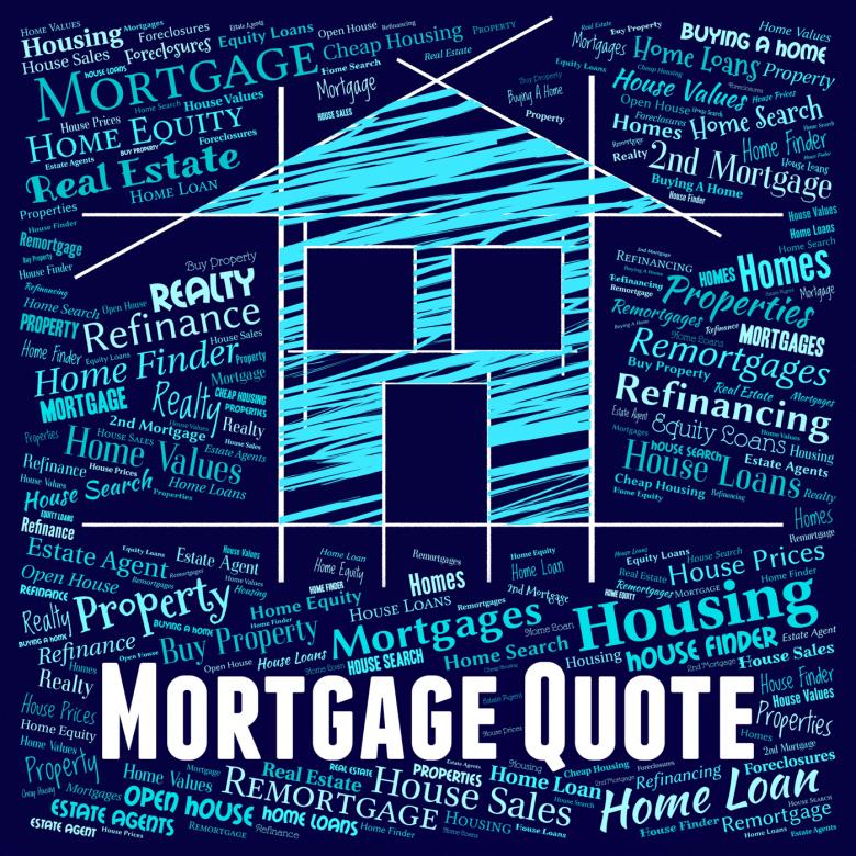 Mortgage Quote Extraordinary Mortgage Quote Indicates Real Estate And Borrow  Free Stock Photo